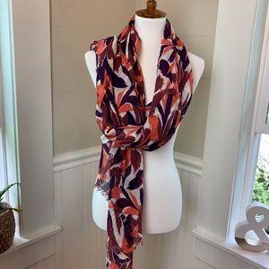 Halogen viscose linen blend scarf - lightweight